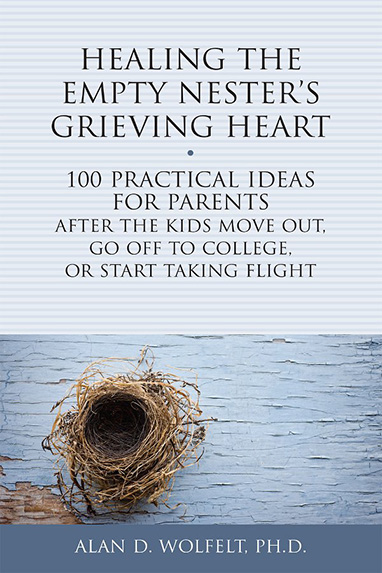 Book entitled Healing the Empty Nester's Grieving Heart