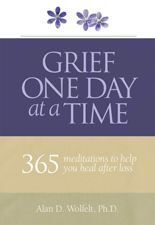 Book entitled Grief One Day at a Time